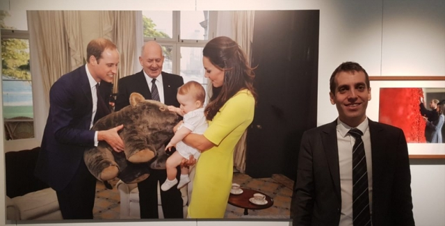 I had the privilege of being invited with 18 colleagues for the announcement of the federal budget at 7pm 9th May 2017. This was taken next to the photo of Prince William and Princess Kate, and their child Prince George hung on the first level. I always thought it was a beautiful picture.