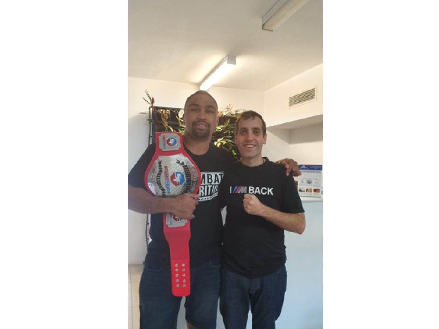 My good friend Samiuela Kei the Australian Heavyweight Superfight champion. He gives me a lot of credit which is incredibly flattering but he's a very hard worker and extremely tough.